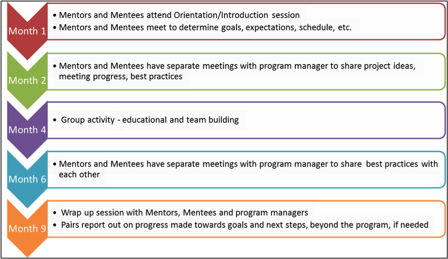Fig. 1. Mentor Program Cycle Timeline (Source: NYCEM Mentor Program, 2017).