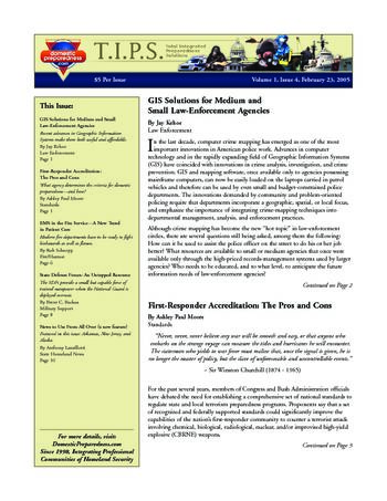 T.I.P.S. (Total Integrated Preparedness Solutions) Volume I, Issue 4 | DomPrep Journal