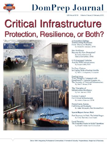Critical Infrastructure: Protection, Resilience, or Both? | DomPrep Journal
