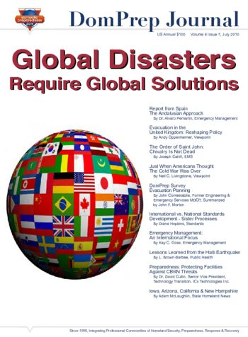 Global Disasters, Require Global Solutions | DomPrep Journal